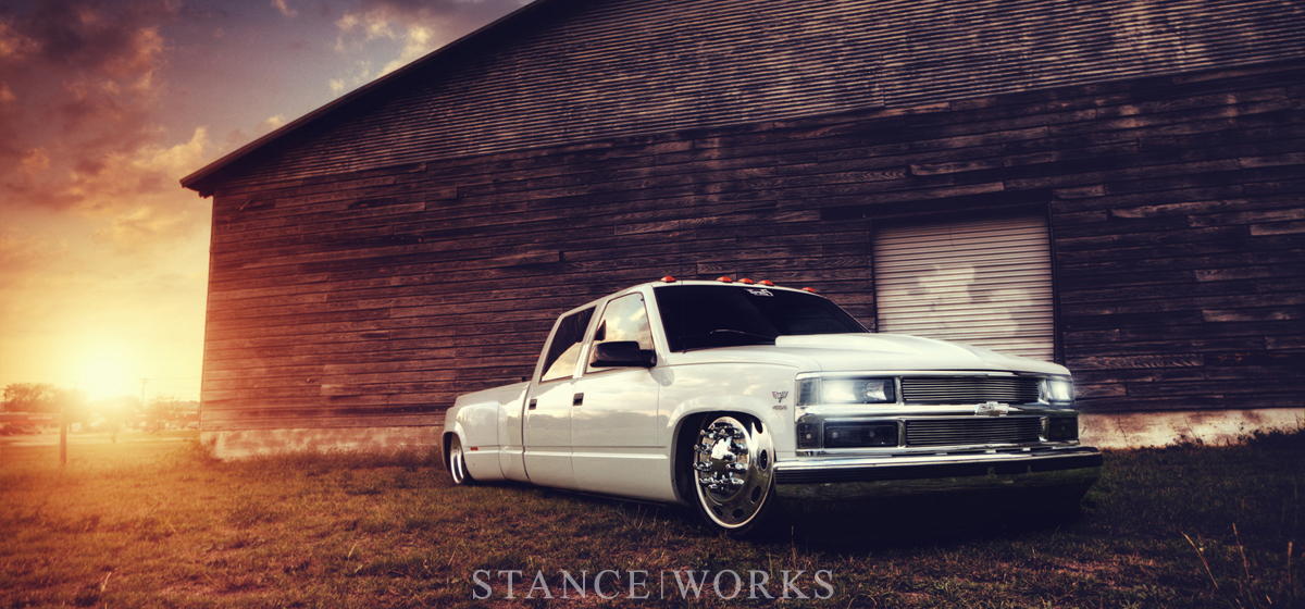 Great White Behemoth – Mike Baldwin's 1996 Bagged Chevy Dually