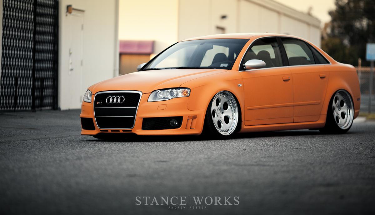 Rotiform Stanced Audi on Rotiform DIA Wheels