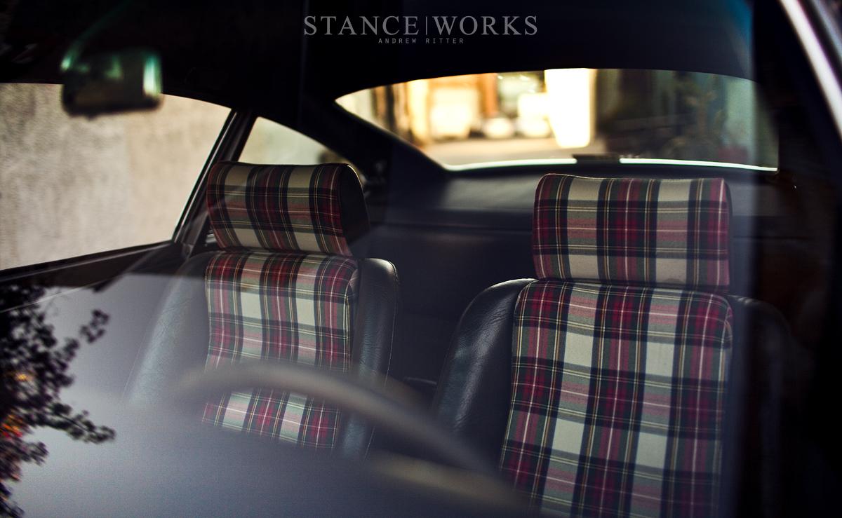 Magnus Walker Porsche tartan seats