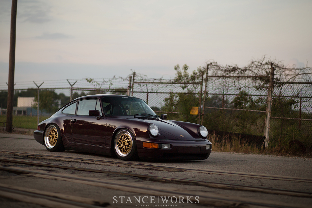 Porsche 964 911 stance lowered bbs