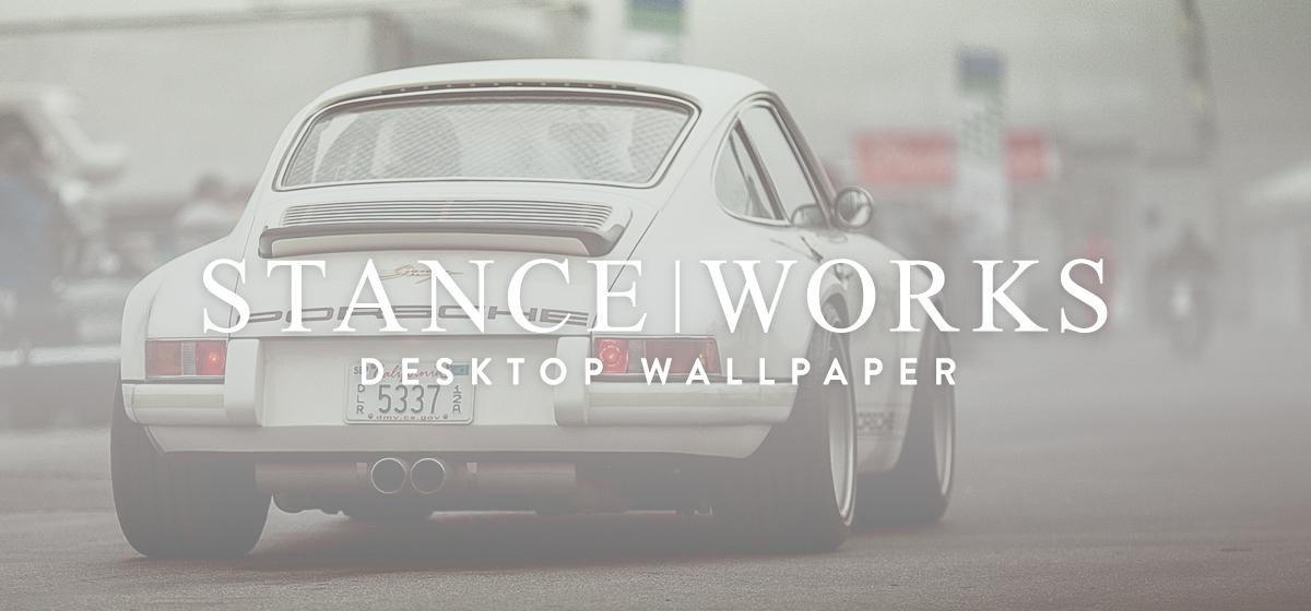 StanceWorks Wallpaper - A Singer Porsche at Mazda Laguna Seca Raceway
