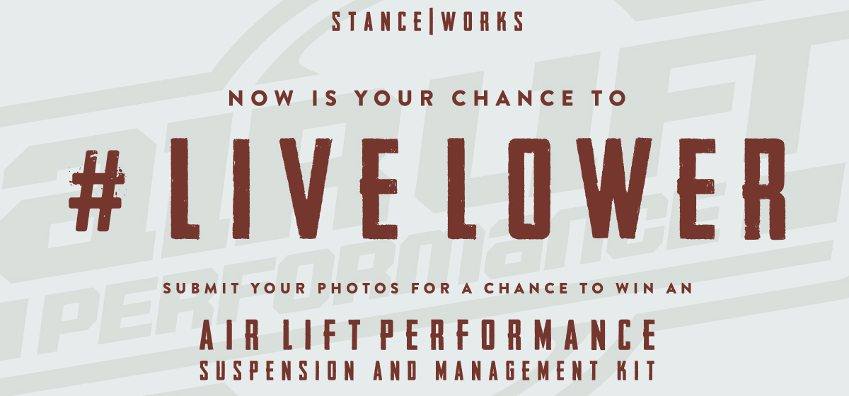 #LiveLower : Win a Complete Air Suspension Setup from Air Lift Performance