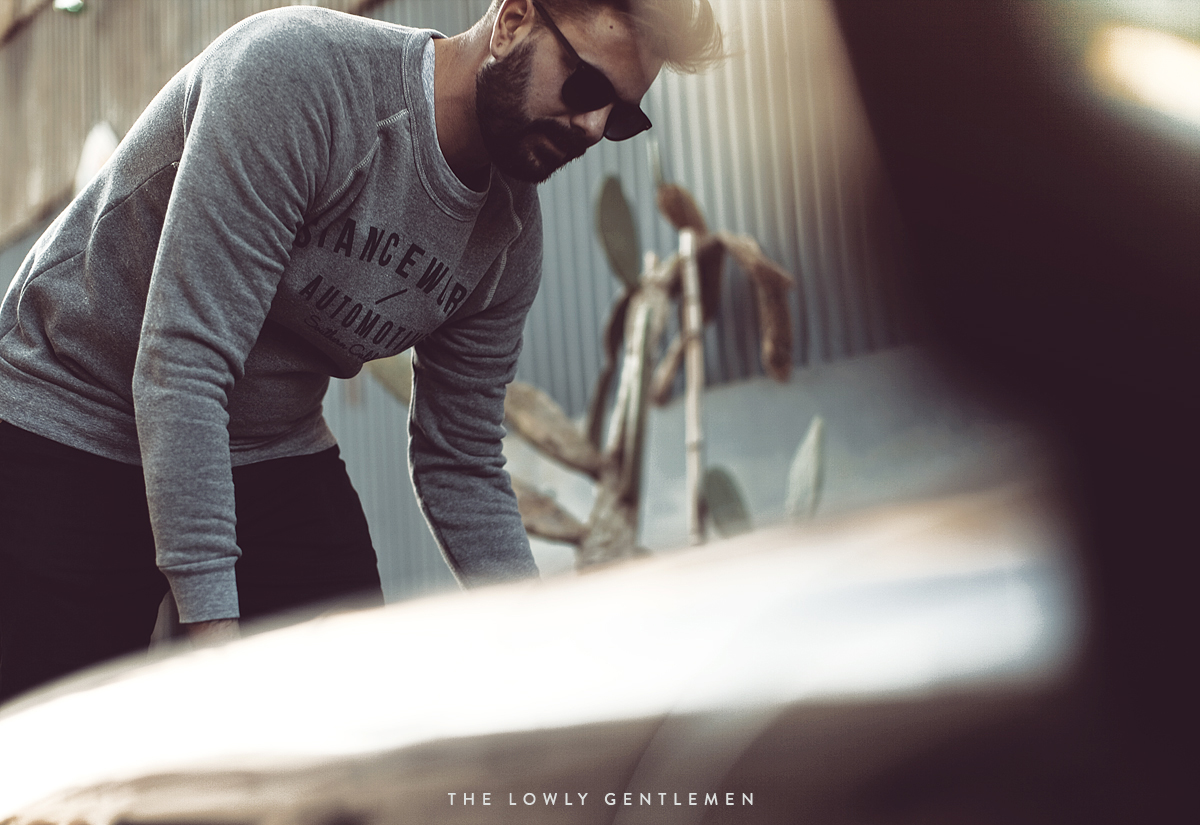 heather grey stanceworks classic crewneck sweatshirt