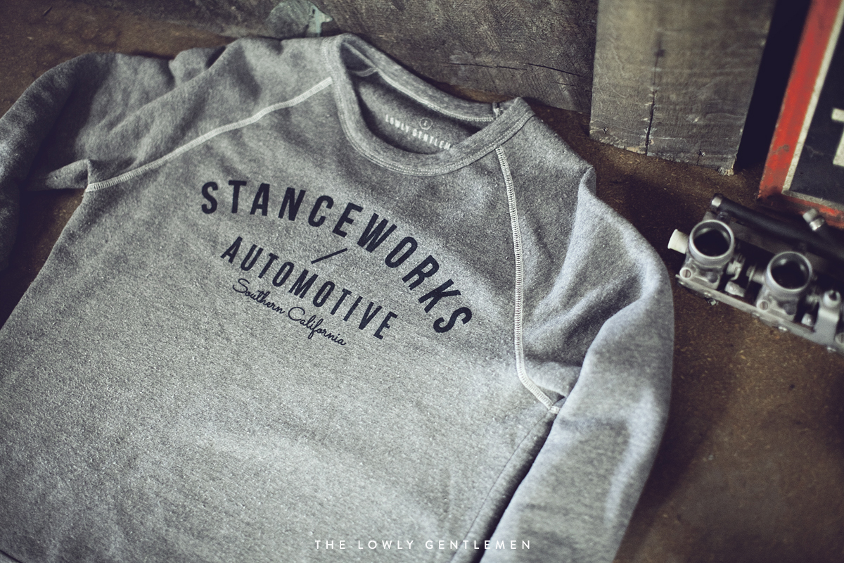 stanceworks crewneck sweatshirt heather gray